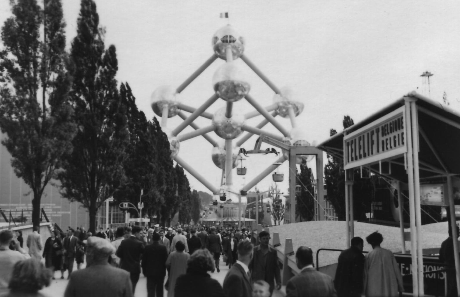 Brüssel, Atomium, 1958 (Bild: H. Krumnack, 1958, CC BY SA 2.0)