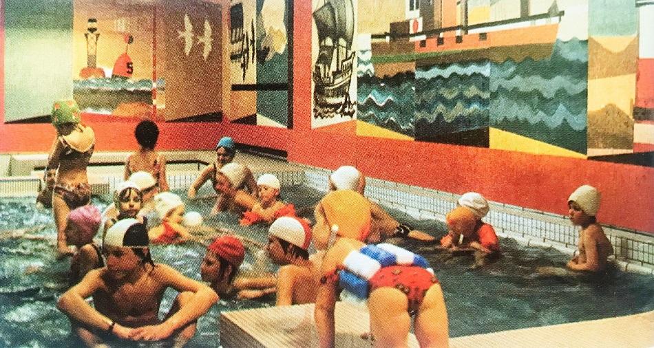 Braunschweig, Heidbergbad, 1973 (Bildquelle: Resopalforum 23, 1973)