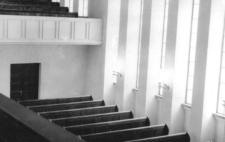 Erfurt, Neue Synagoge, Innenansicht, 1952 (Bild: Bundesarchiv Bild 183-16134-0006, CC-BY-SA 3.0)