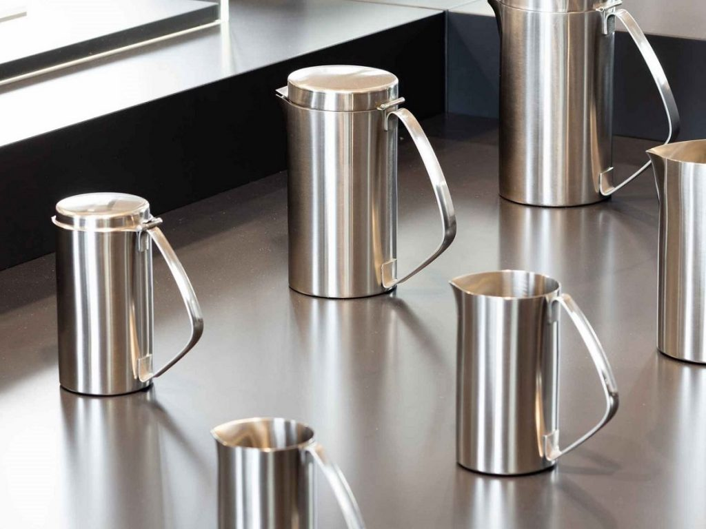 Christa Petroff-Bohne: Kaffeeportionskannen, Edelstahl, Herstellung: VEB Auer Besteck- und Silberwarenwerke (Bild: © SKD/Klemens Renner)