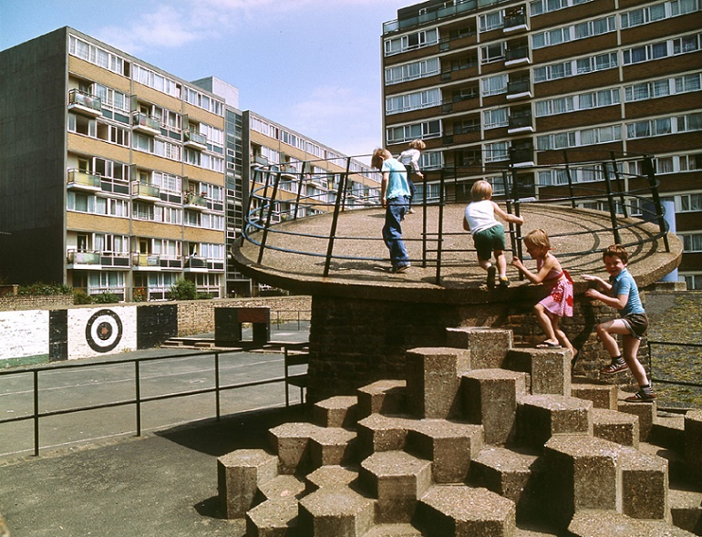 Churchill Gardens Estate, Pimlico London, 1978 (Bild: © John Donat - RIBA Library Photographs Collection)