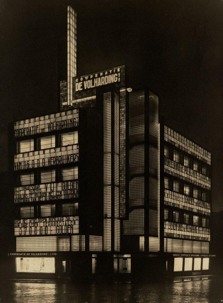 Den Haag, De Volharding (Jan Buijs, 1928) (Bildquelle: De Volharding, De Volharding bij avond, 1928, Foto: Haags Gemeente Archief)