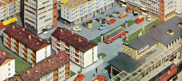 Die moderne Modellbaustadt im Kibri-Katalog 1964 (Bildquelle: Kibri-Katalog 1964)