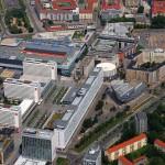 """Dresden, nachverdichtete Prager Straße mit neugestaltetem """"Prager Platz"""", 2010 (Bild: www.fotos-aus-der-luft.de, Foto: Holger Mombrei)"""