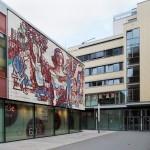 """Dresden, das Wandbild """"Dresden grüßt seine Gäste"""" am ehemaligen Restaurant Bastei, 2013 (Bild: SLUB Dresden/Deutsche Fotothek, Foto: André Rous)"""