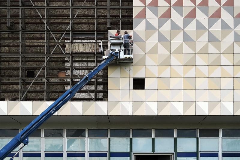 Dresden, Abbrucharbeiten auf dem Robotron-Gelände (Bild: Martin Maleschka)