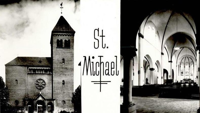 Duisburg-Wanheimerort, St. Michael (Bild: historische Postkarte)