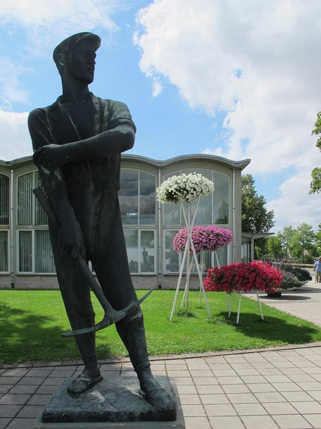 Erfurt, egapark, Empfangs- und Verwaltungsgebäude, 1961 (Bild: K. Berkemann)