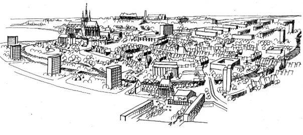 Erfurt, Alstadt (Bildquelle. Wissenschaftliche Zeitschrift der Hochschule für Architektur und Bauwesen Weimar 9, 4, 1962, S. 355)