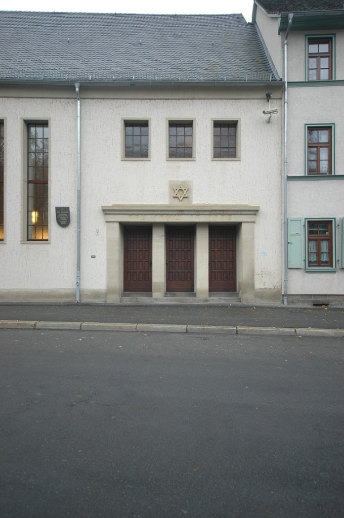 Erfurt, Neue Synagoge, Eingang (Bild: U. Knufinke)