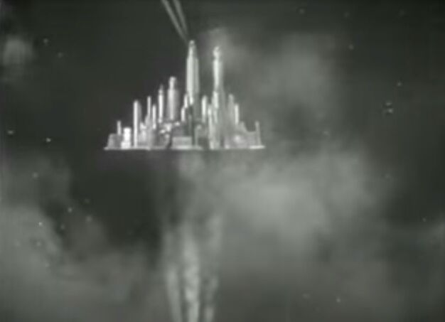 Sky City, Flash Gordon (Kapitel VII), 1936 (Bild: Screenshot, via wikimedia commons)