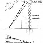 Fördergerüst in Kastenbauweise (Bauart: Zschetsche, Patent 135342) (Bild: Archiv W. Buschmann)