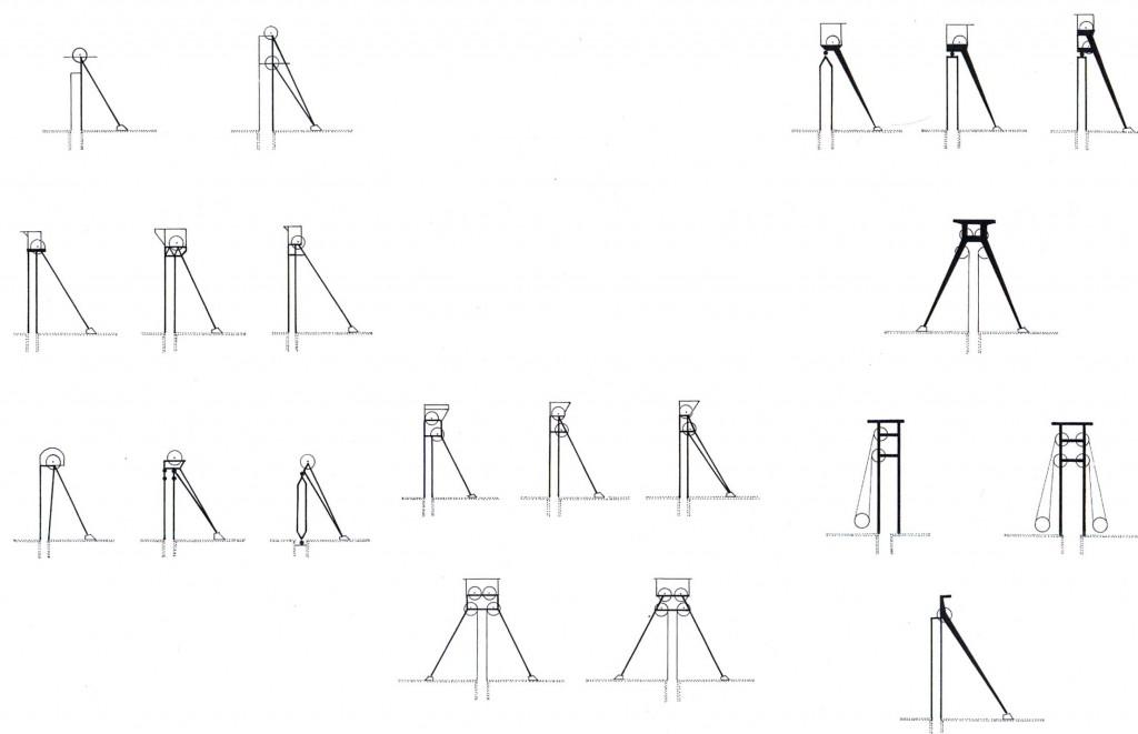 Typologie der Fördergerüste (Bild: Archiv W. Buschmann)