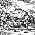 Haspel (Holzschnitt: Agricola, G., Vom Bergkwerck XII Bücher, Basel 1557 (Reprint: Berlin 1928), Scan: W. Buschmann)