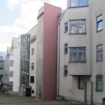 """""""Entscheidend ist, was hinten rauskommt"""": die Rückseite des Ostteils der Frankfurter Saalgasse (Bild: Daniel Bartetzko)"""