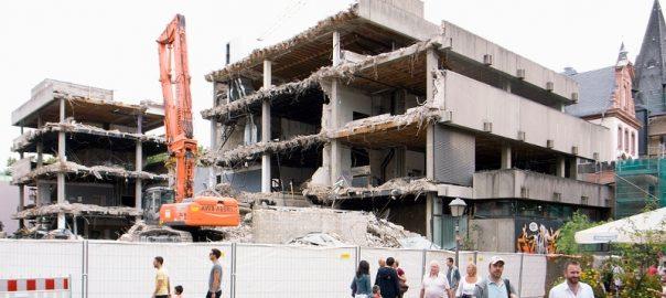 Frankfurt, Abriss des Historischen Museums, 2010 (Bild: Hagen Stier)