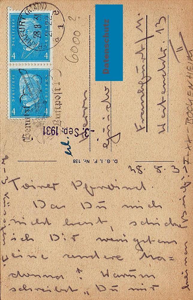 Historische Postkarte der Frankfurter Frauenfriedenskirche (Bildquelle: Karin Berkemann privat)