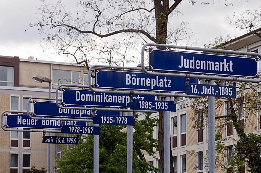 Frankfurt/Main, Gedenkstätte am Neuen Börneplatz (Bild: Eva K.)