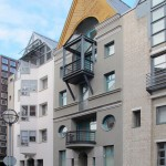 Gleicher Ort, 135 Jahre später: Frankfurt/Main, Saalgasse 6, Architekt Peter Aribert Herms, Berlin (Bild: Daniel Bartetzko)
