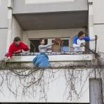 Frühlingsputz in den neu besetzten studentischen Büros (Bild: Heide Fest, 2012)