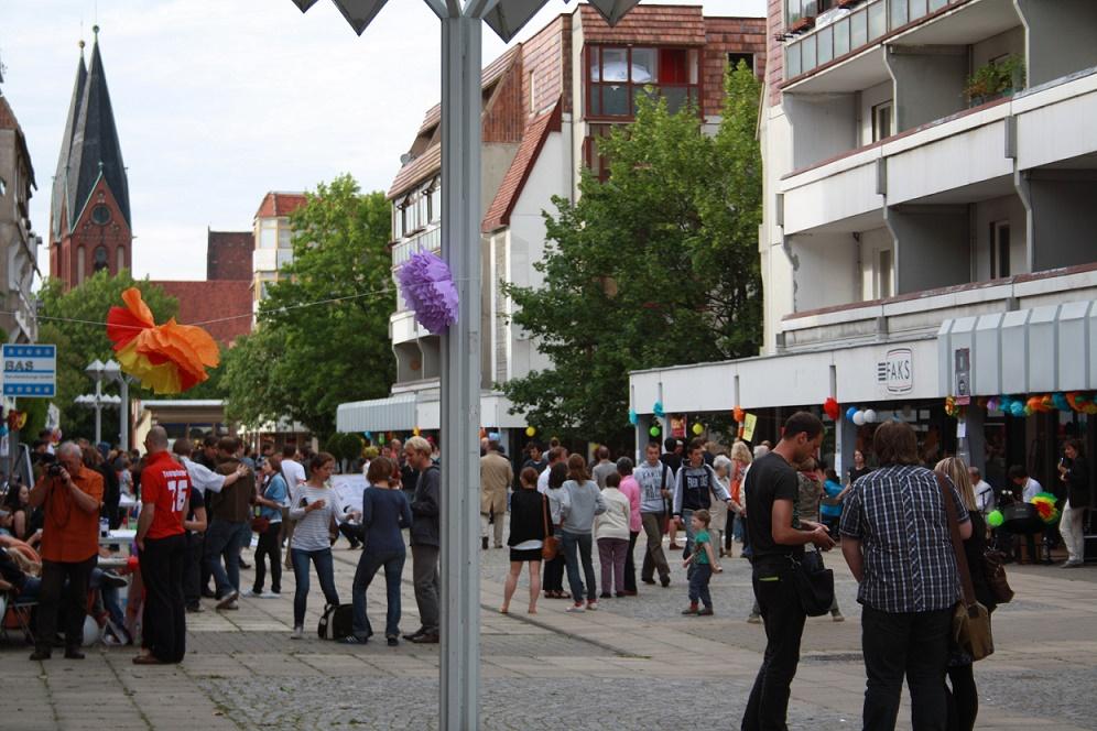 Ein erneuter Wiederbelebungsversuch im Norden der Großen Scharrnstraße (Bild: Milena Manns 2011)