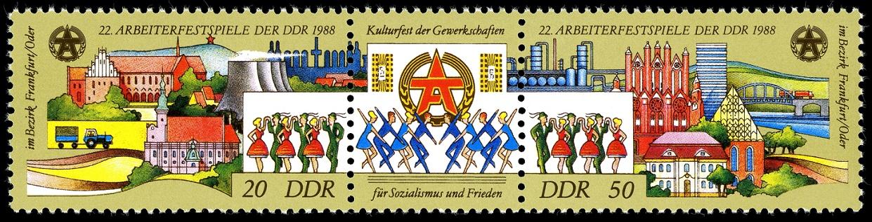 Sonderbriefmarke zu den 22. Arbeiterfestspielen im Bezirk Frankfurt/Oder