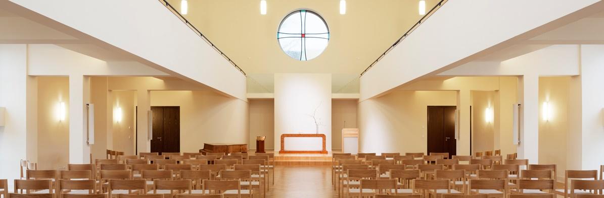 Frankfurt-Niederrad, Paul-Gerhard-Gemeindehaus (Bild: HGP Architekten, Foto: Thomas Ott, Darmstadt)