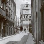 Frankfurt/Main, Saalgasse um 1900 (Bild: Carl Friedrich Fay)