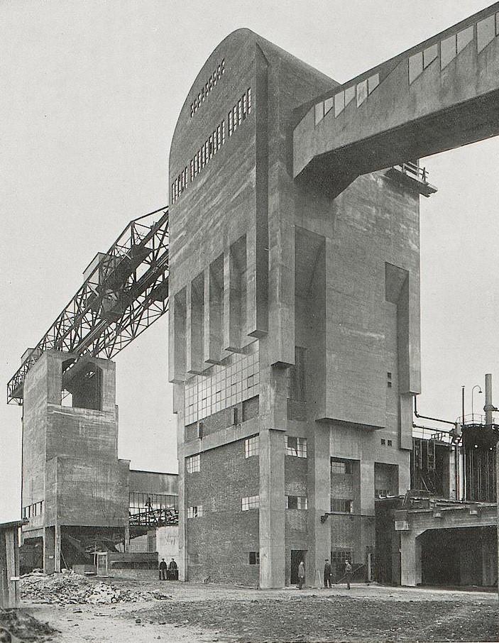 Frankfurt am Main, Kokerei, Gaswerk, Kohlenturm (Quelle: Das Neue Frankfurt 9, 1929, Universitätsbibliothek Heidelberg, CC BY SA 3.0)