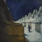 František Kupka, La Voie du Silence II (The Way of Silence II), 1900-03, Druck Mischtechnik, Pastell auf Leinwand, 80 x 90 cm Photograph (© National Gallery in Prague 2014/VG Bild-Kunst Bonn, 2015)
