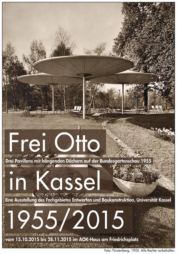 """""""Frei Otto in Kassel 1955/2015"""" (Bild: Fürstenberg, 1955, alle Rechte vorbehalten)"""