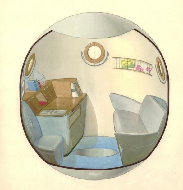 Galina Balašova : erster Entwurf der Sojus-Raumkapsel, entstanden übers Wochenende, 1963 (Bild: © Archiv Galina Balašova)