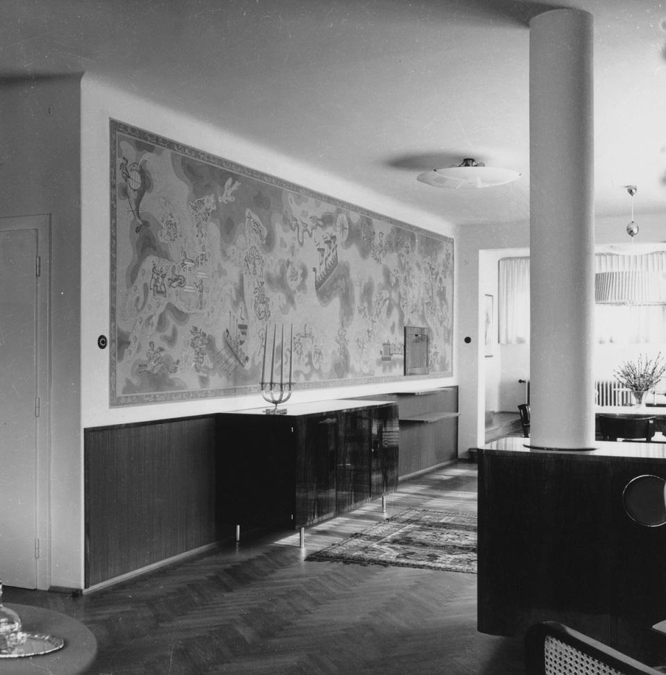 """Das Haus Albrecher-Leskoschek in Graz: die """"Allegorie der Freude"""" (Bild: Sammlung Heimo Halbrainer, Nachlass Max v. Wikullil, Graz)"""