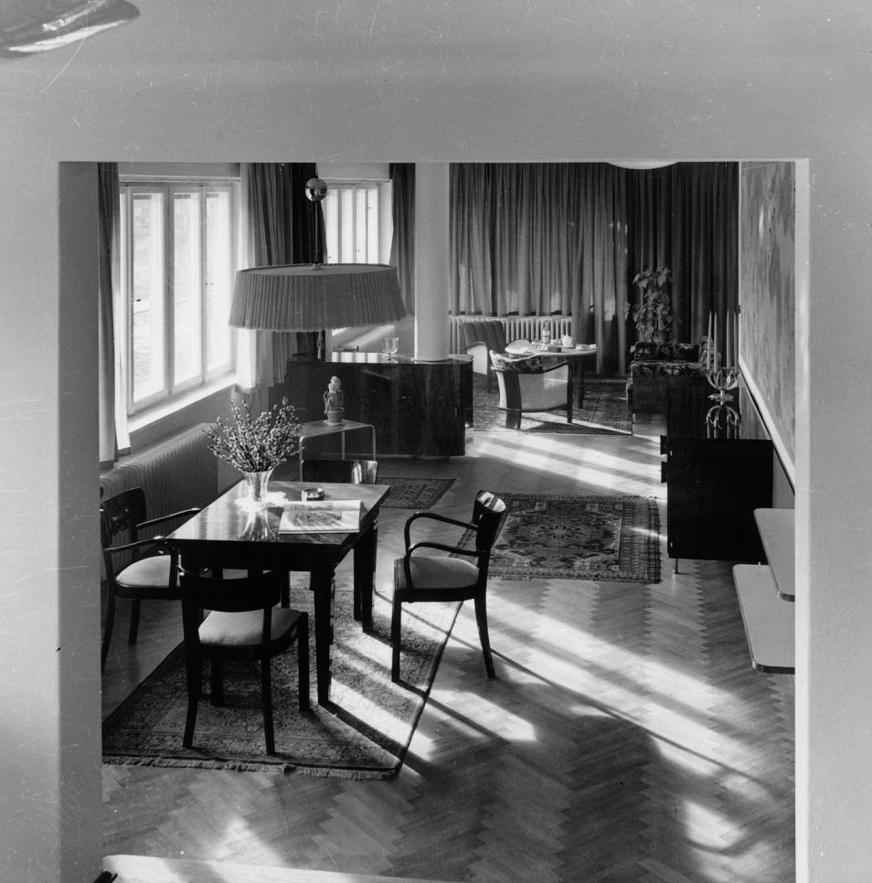 Das Haus Albrecher-Leskoschek in Graz: Blick auf den Speisebereich (Bild: Sammlung Heimo Halbrainer, Nachlass Max v. Wikullil, Graz)