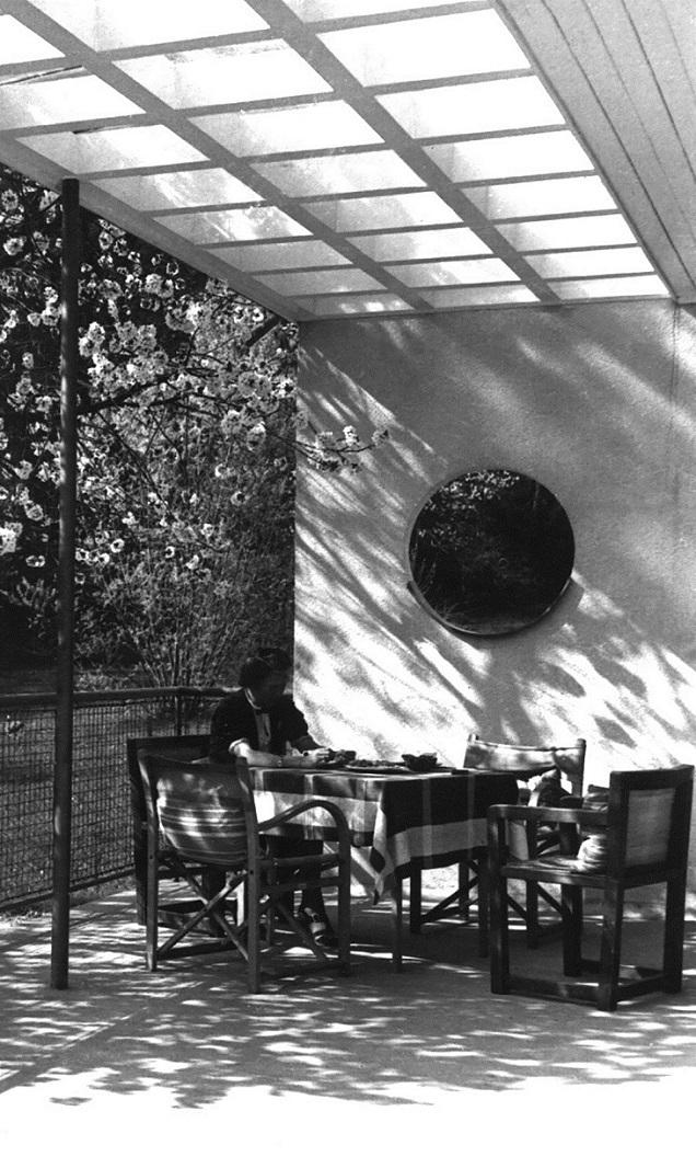 Das Haus Albrecher Leskoschek in Graz Terrasse mit