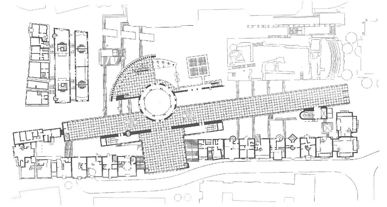 frankfurt main grundriss fertigstellung der gebaude um 1984 unten liegt die