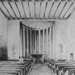 Ein studentischer Entwurf (1952) von Heinz Willi Peuser für einen Kirchenbau in Detmold (Bild: Archiv H. W. Peuser)