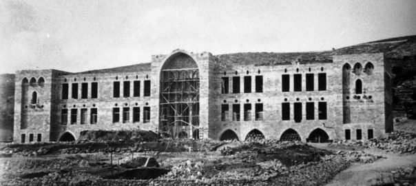 Haifa, Technion im Bau, um 1913 (Bild: Technion - Israel Institute of Technology, gemeinfrei)