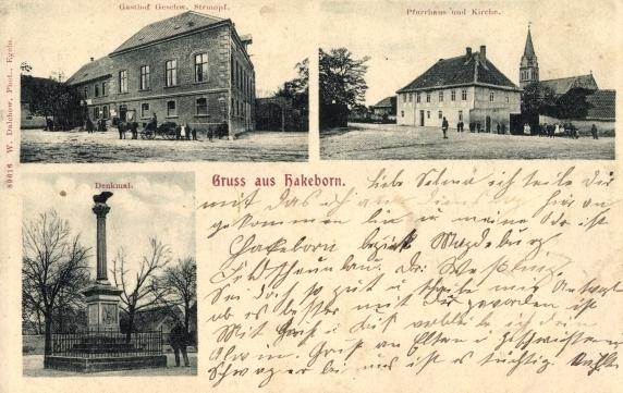 Hakeborn (Bild: historische Postkarte, wohl um 1900)