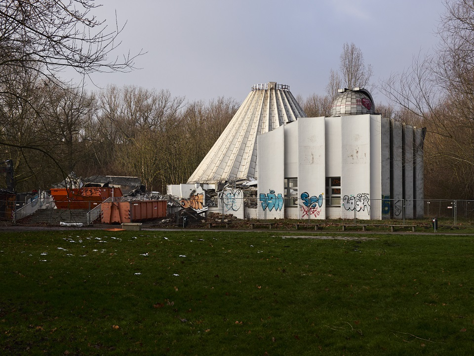 Halle-Preißnitz, Abriss des Planetariums, Januar 2018 (Bild: Wolfram Friedrich)