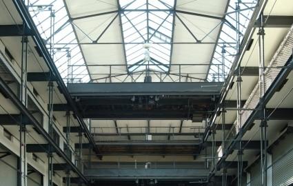 Innenraum der Großgarage Halle Süd (Bild: Architekturbüro Heinze)