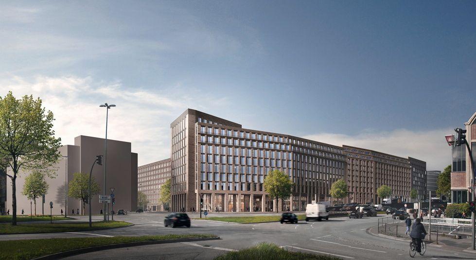 Hamburg, Cityhof, Neubauentwurf (Bild: KPW-Architekten)