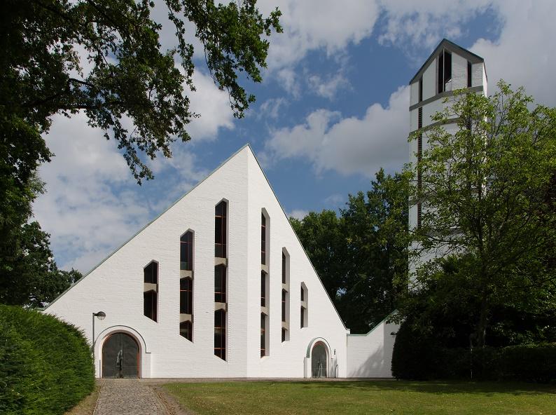 Hamburg-Rahlstedt, Martinskirche (Olaf A. Gulbransson, 1961) (Bild: An-d, CC BY SA 3.0)