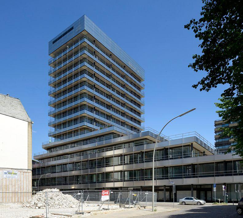Das Hamburger Allianz-Hochhaus (1969-71) wird 2017 abgerissen - Zwischennutzung unerwünscht (Bild: Hagen Stier)