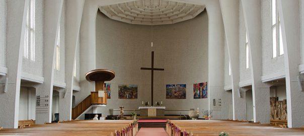Hamburg-Dulsberg, Frohebotschaftkirche (Bild: An-d, CC BY SA 3.0, 2013)