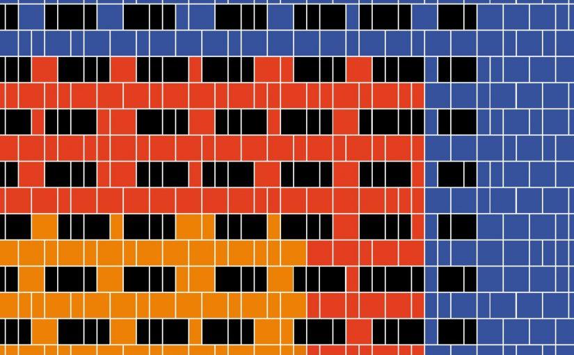 Fassade, Tapete oder Tischunterlage? Mit Farbe ließen sich manche Ähnlichkeiten erreichen. Fassadenentwurf Herkuleshochaus, 1972 (Bild: Uta Winterhager)