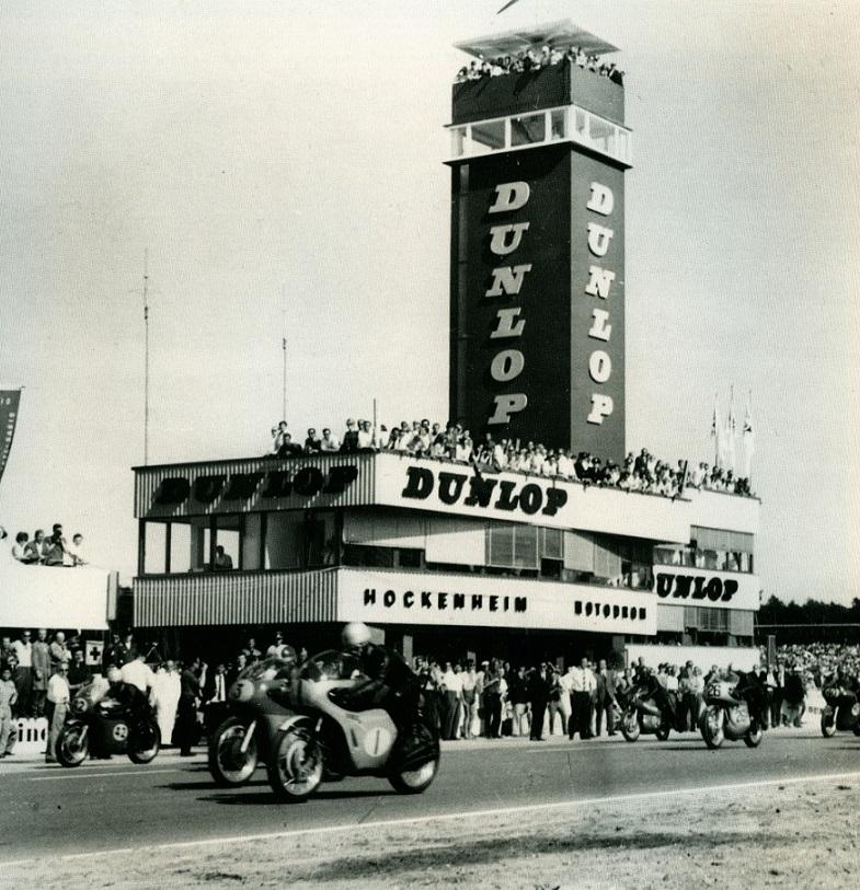 Das neue Motodrom (Bild: Hockenheimring, 1966)