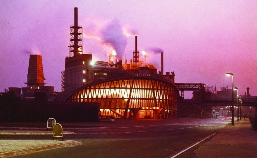 Huerth, Knapsacker Chemiepark mit Feierabendhaus (Bild: InfraServ Knapsack, CC BY SA 3.0, 1969)