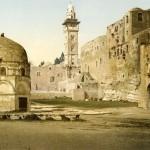 Jerusalem, Burg Antonia (Foto: Maison Bonfils, um 1890, Photochrom: um 1895, Copyright: G.-Dalman-Institut)