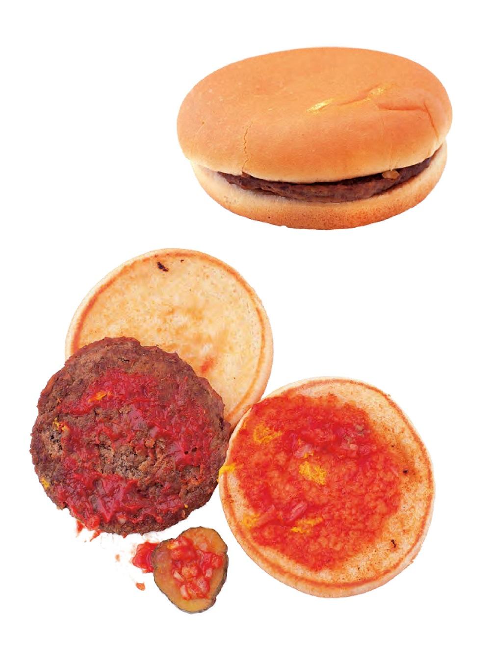 Der Burger und seine Einzelbestandteile (Bildquelle: Jürgen Dollase, Geschmacksschule, Foto: Peter Schulte für Tre Torri Verlag)